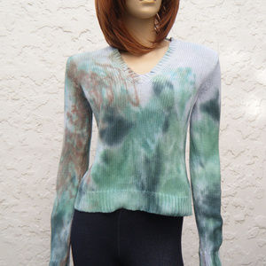 J Crew Custom Dye Upcycle OOAK Cotton Knit Sweater